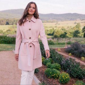 Gal Meets Glam Pink Wool Coat Hadley Mid Length